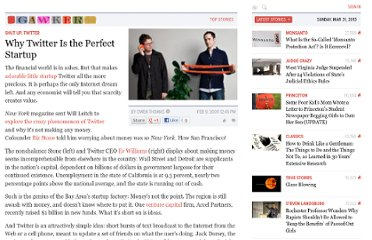 http://gawker.com/5149724/why-twitter-is-the-perfect-startup