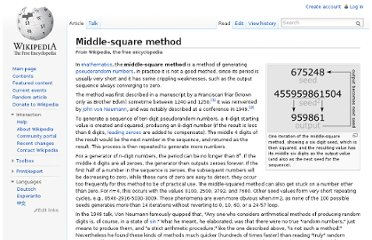 http://en.wikipedia.org/wiki/Middle-square_method