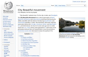 http://en.wikipedia.org/wiki/City_Beautiful_movement