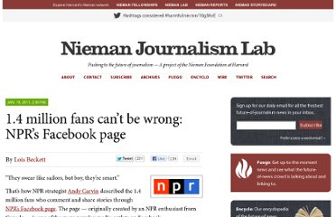http://www.niemanlab.org/2011/01/nprs-facebook-page-a-multi-million-pageview-machine/