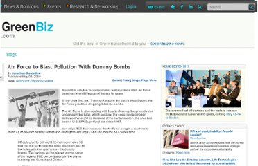 http://www.greenbiz.com/blog/2009/05/05/air-force-blast-pollution-dummy-bombs