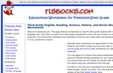 http://www.tlsbooks.com/thirdgradeworksheets.htm