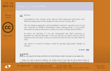 http://camendesign.com/code/how_to_learn_html5