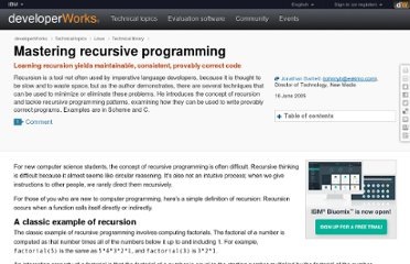 http://www.ibm.com/developerworks/linux/library/l-recurs/index.html