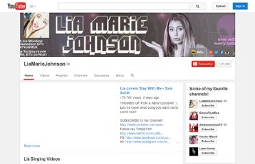 http://www.youtube.com/user/liamariejohnson