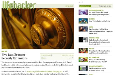 http://lifehacker.com/5770947/five-best-browser-security-extensions
