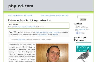 http://www.phpied.com/extreme-javascript-optimization/