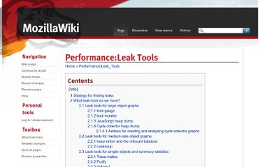 https://wiki.mozilla.org/Performance:Leak_Tools