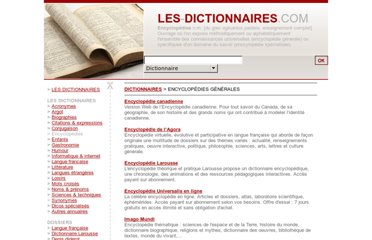 http://www.les-dictionnaires.com/encyclopedies.html