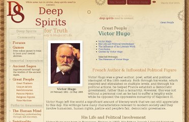http://www.deepspirits.com/great-people/victor-hugo/