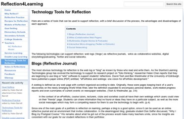 https://sites.google.com/site/reflection4learning/technology-tools-for-reflection