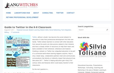 http://langwitches.org/blog/2011/08/27/guide-to-twitter-in-the-k-8-classroom/