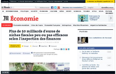 http://www.lemonde.fr/economie/article/2011/08/26/19-des-niches-fiscales-sont-inefficaces-selon-l-inspection-des-finances_1564112_3234.html#xtor=AL-32280308