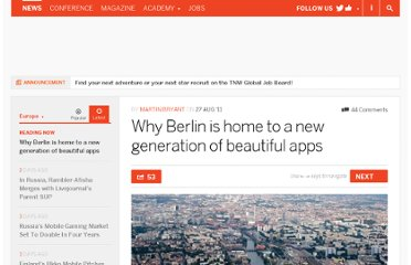http://thenextweb.com/eu/2011/08/27/why-berlin-is-home-to-a-new-generation-of-beautiful-apps/