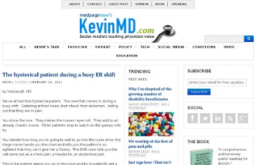http://www.kevinmd.com/blog/2011/02/hysterical-patient-busy-er-shift.html