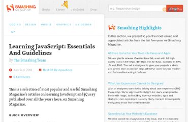 http://www.smashingmagazine.com/learning-javascript-essentials-guidelines-tutorials/