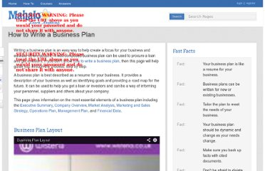 http://www.mahalo.com/how-to-write-a-business-plan/