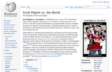 http://en.wikipedia.org/wiki/Scott_Pilgrim_vs._the_World