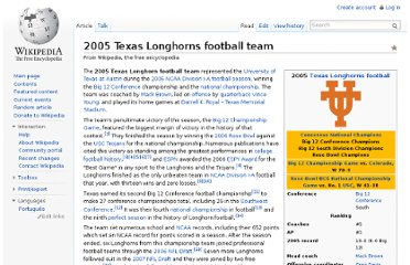http://en.wikipedia.org/wiki/2005_Texas_Longhorns_football_team