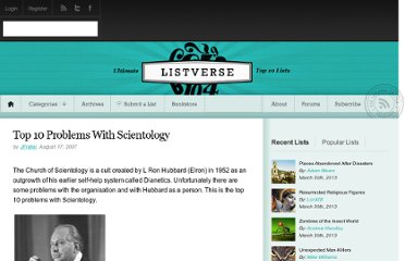 http://listverse.com/2007/08/17/top-10-problems-with-scientology/