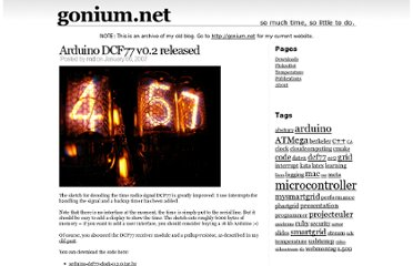 http://gonium.net/md/2007/01/06/arduino-dcf77-v02-released/index.html