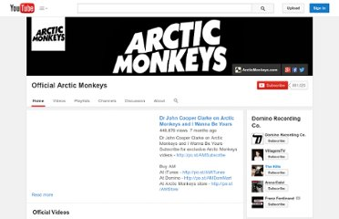 http://www.youtube.com/user/ArcticMonkeys