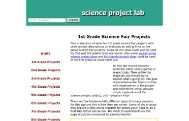 http://www.scienceprojectlab.com/1st-grade-science-fair-projects.html
