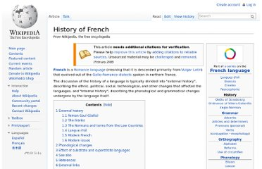 http://en.wikipedia.org/wiki/History_of_French