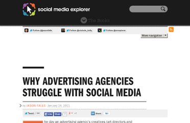 http://www.socialmediaexplorer.com/advertising/advertising-agencies-social-media-struggles/