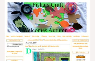 http://fiskarscraft.typepad.com/my_weblog/2009/03/onthego-car-activity-mat-fiskarscraft.html