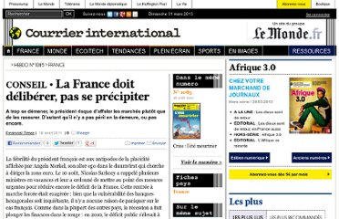 http://www.courrierinternational.com/article/2011/08/18/la-france-doit-deliberer-pas-se-precipiter