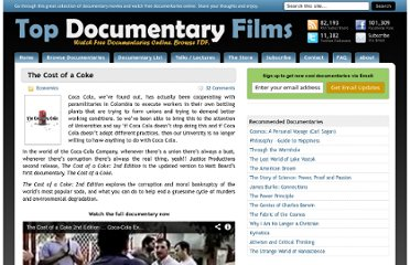 http://topdocumentaryfilms.com/the-cost-of-a-coke/