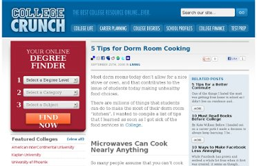 http://www.collegecrunch.org/living/5-tips-for-dorm-room-cooking/