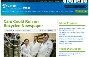 http://earth911.com/news/2011/08/26/cars-could-run-on-recycled-newspaper/