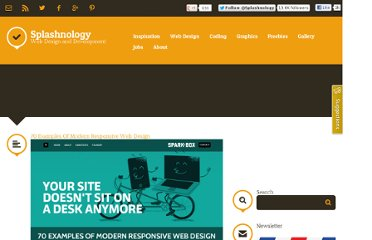 http://www.splashnology.com/article/70-examples-of-modern-responsive-web-design/2537/