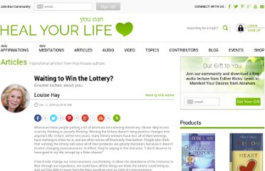 http://www.healyourlife.com/author-louise-l-hay/2009/12/lifeshelp/success-and-abundance/waiting-to-win-the-lottery