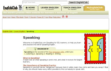 http://www.englishclub.com/speaking/index.htm