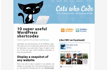 http://www.catswhocode.com/blog/10-super-useful-wordpress-shortcodes