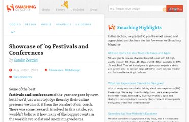 http://www.smashingmagazine.com/2009/08/25/showcase-of-09-festivals-and-conferences/