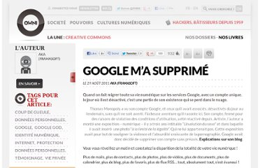http://owni.fr/2011/08/29/google-suppression-compte-donnees-personnelles-vie-privee-god/