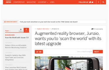 http://thenextweb.com/apps/2011/08/29/augmented-reality-browser-junaio-wants-you-to-scan-the-world-with-its-latest-upgrade/