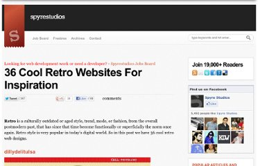 http://spyrestudios.com/36-cool-retro-websites-for-inspiration/
