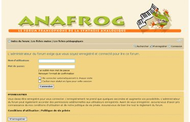 http://forum.anafrog.com/phpBB/viewforum.php?f=21