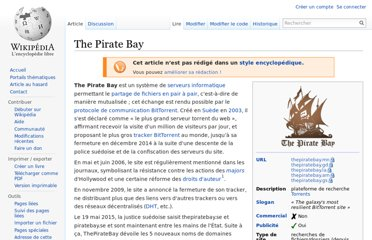http://fr.wikipedia.org/wiki/The_Pirate_Bay