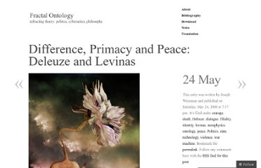 http://fractalontology.wordpress.com/2008/05/24/difference-primary-and-peace-deleuze-and-levinas/