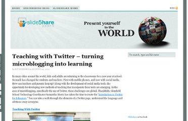 http://blog.slideshare.net/2011/08/22/teaching-with-twitter-turning-microblogging-into-learning/