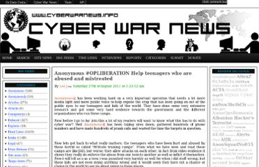 http://www.cyberwarnews.info/2011/08/27/anonymous-opliberation-help-teenagers-who-are-abused-and-mistreated/