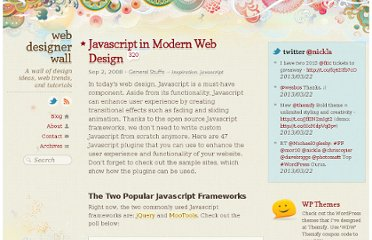 http://webdesignerwall.com/general/javascript-in-modern-web-design