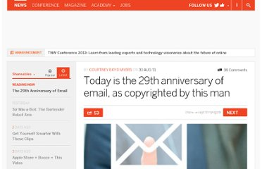 http://thenextweb.com/shareables/2011/08/30/today-is-the-30th-anniversary-of-email-as-copyrighted-by-this-man/