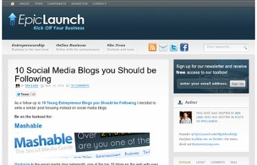 http://epiclaunch.com/10-social-media-blogs-you-should-be-following/